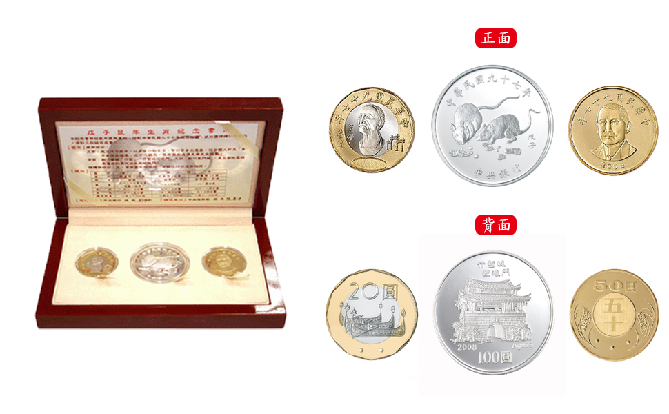 Commemorative Coin Set for 2008, the Chinese Zodiac Year of the Rat